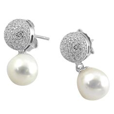 9.61cts natural white pearl topaz 925 sterling silver earrings jewelry c4570