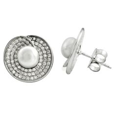 7.82cts natural white pearl topaz 925 sterling silver earrings jewelry c4581