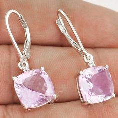 9.80cts RARE PINK AMETHYST 925 STERLING SILVER DANGLE EARRINGS JEWELRY G92399