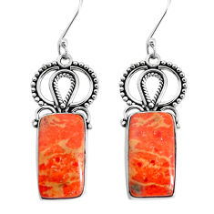 14.26cts red copper turquoise 925 sterling silver dangle earrings jewelry p34926