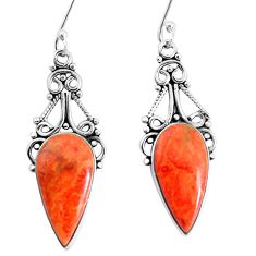 12.06cts red copper turquoise 925 sterling silver dangle earrings jewelry p34949