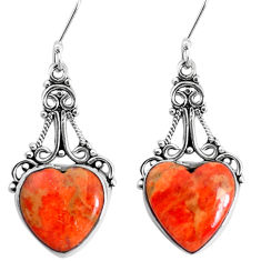 13.84cts red copper turquoise 925 sterling silver dangle earrings jewelry p34950