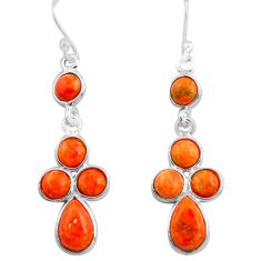 9.42cts red copper turquoise 925 sterling silver dangle earrings jewelry p77432