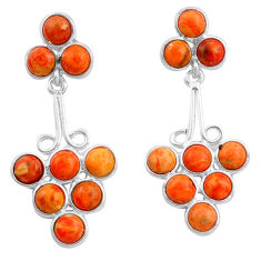 12.58cts red copper turquoise 925 sterling silver dangle earrings jewelry p77470