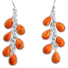 13.13cts red copper turquoise 925 sterling silver dangle earrings jewelry p91525