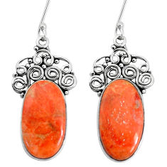 15.47cts red copper turquoise 925 sterling silver earrings jewelry p34977