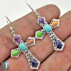 SOUTH WEST NATURAL ARIZONA SLEEPING BEAUTY TURQUOISE 925 SILVER EARRINGS G71225