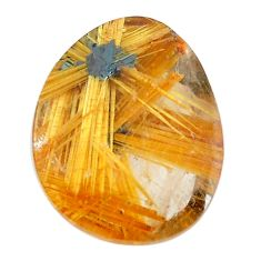 Faceted 12.40cts half star rutile golden 17.5x14 mm fancy loose gemstone s12912