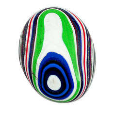 4.35cts fordite detroit agate cabochon 17.5x13.5 mm oval loose gemstone s13459