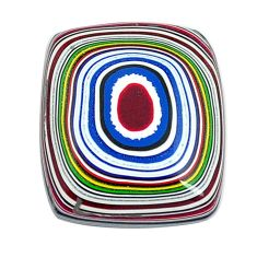 5.30cts fordite detroit agate cabochon 17x15 mm octagan loose gemstone s13424