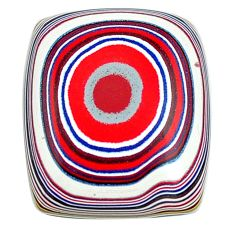 7.35cts fordite detroit agate cabochon 18x15 mm octagan loose gemstone s13428