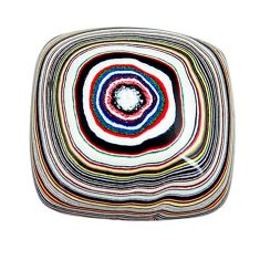 7.40cts fordite detroit agate cabochon 18x17.5 mm octagan loose gemstone s13404