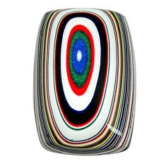 7.40cts fordite detroit agate cabochon 21x14 mm octagan loose gemstone s13429