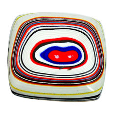 9.45cts fordite detroit agate cabochon 21x21 mm cushion loose gemstone s13418