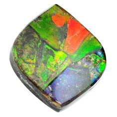 Natural 24.35cts ammolite triplets multicolor 22.5x22 mm loose gemstone s13473