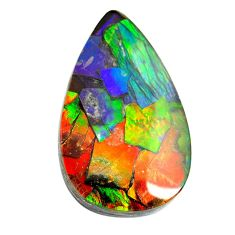 Natural 29.35cts ammolite triplets multicolor 33.5x21 mm loose gemstone s13464