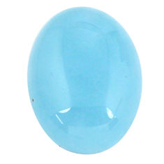 Natural 19.45cts aquamarine blue cabochon 20x15 mm oval loose gemstone s11782