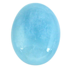 Natural 16.30cts aquamarine blue cabochon 20x15 mm oval loose gemstone s11793