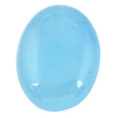 Natural 16.30cts aquamarine blue cabochon 20x15 mm oval loose gemstone s11797