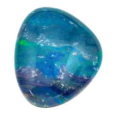 Natural 7.40cts australian opal triplet blue 17x13mm fancy loose gemstone s13760