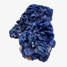 Natural 43.45cts azurite druzy blue rough 23.5x20 mm fancy loose gemstone s14489