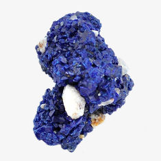Natural 31.30cts azurite druzy blue rough 24x15 mm fancy loose gemstone s14487