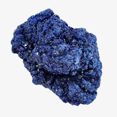 Natural 54.45cts azurite druzy blue rough 26x17 mm fancy loose gemstone s14484
