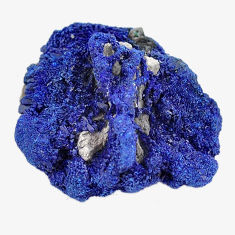 Natural 32.40cts azurite druzy blue rough 26x24 mm fancy loose gemstone s14497