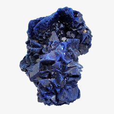 Natural 51.30cts azurite druzy blue rough 27x18 mm fancy loose gemstone s14488