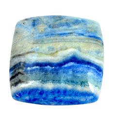 Natural 40.15cts blue quartz palm stone 26.5x26.5 mm loose gemstone s11363