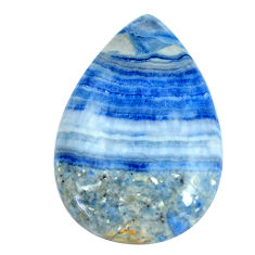 Natural 30.10cts blue quartz palm stone 31x21 mm pear loose gemstone s11380