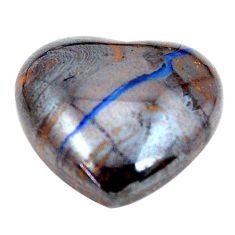 Natural 15.10cts boulder opal brown cabochon 16x17mm heart loose gemstone s12860