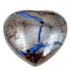 Natural 14.45cts boulder opal brown cabochon 17x17mm heart loose gemstone s12857