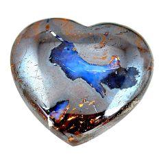 Natural 32.35cts boulder opal brown cabochon 23x25mm heart loose gemstone s12845