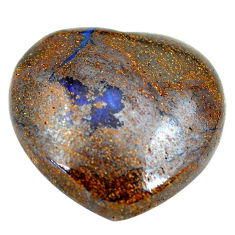 Natural 27.35cts boulder opal cabochon 22.5x23 mm heart loose gemstone s12852