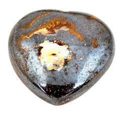 Natural 33.45cts boulder opal cabochon 23.5x24 mm heart loose gemstone s12848