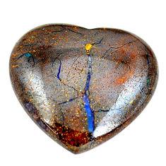 Natural 23.45cts boulder opal cabochon 23.5x25 mm heart loose gemstone s12847
