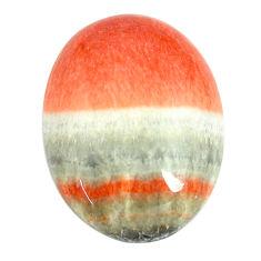 Natural 32.40cts celestobarite orange cabochon 26x19 mm loose gemstone s13592