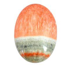 Natural 25.10cts celestobarite orange cabochon 27x18 mm loose gemstone s13598