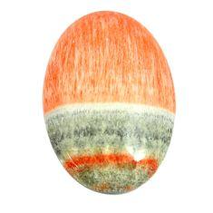 Natural 26.30cts celestobarite orange cabochon 27x18 mm loose gemstone s13599