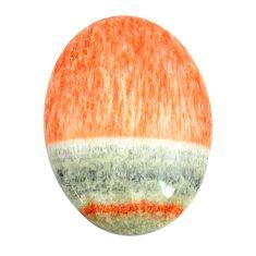 Natural 23.45cts celestobarite orange cabochon 27x18 mm loose gemstone s13600