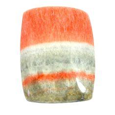 Natural 39.45cts celestobarite orange cabochon 27x19 mm loose gemstone s13585