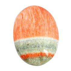 Natural 28.45cts celestobarite orange cabochon 27x20 mm loose gemstone s13597