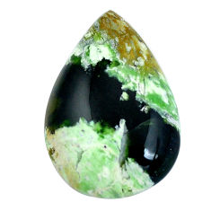 Natural 25.10cts chrome chalcedony green 31x21 mm pear loose gemstone s11320