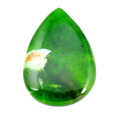 Natural 19.10cts chrome chalcedony green 32x22 mm pear loose gemstone s11310