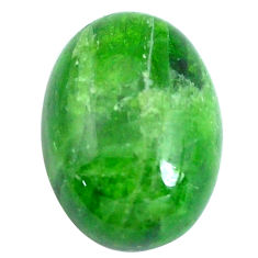 Natural 12.35cts chrome diopside green 17.5x12.5 mm oval loose gemstone s10842
