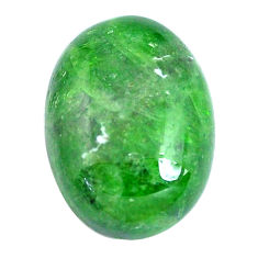 Natural 12.40cts chrome diopside green 17.5x13.5 mm loose gemstone s10856