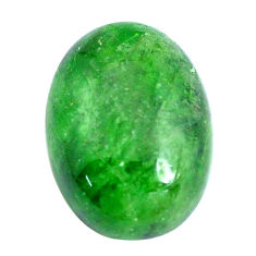 Natural 13.45cts chrome diopside green cabochon 17.5x13 mm loose gemstone s10841