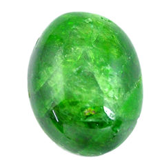 Natural 11.30cts chrome diopside green cabochon 17.5x13 mm loose gemstone s12276