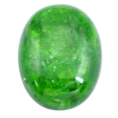 Natural 11.25cts chrome diopside green cabochon 17.5x13 mm loose gemstone s12280